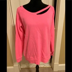 Bright pink pullover
